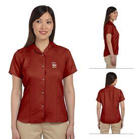 Customized Harriton M570W Ladies Bahama Cord Camp Shirt