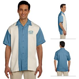 Customized Harriton M575 Two-Tone Bahama Cord Camp Shirt