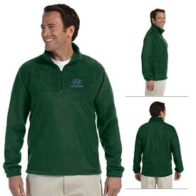 Customized Harriton M980 Quarter-Zip Fleece Pullover