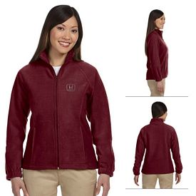 Customized Harriton M990W Ladies Full-Zip Fleece