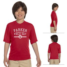 Customized Jerzees 21B Youth 5.3 oz 100% Polyester Crew T-Shirt