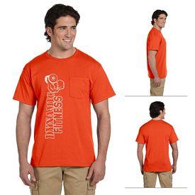 Customized Jerzees 29MP 5.6 oz 50/50 Heavyweight Blend Pocket T-Shirt