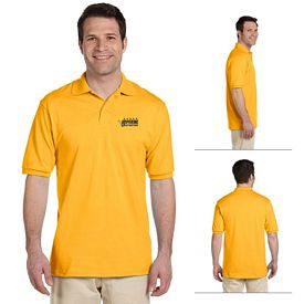 Customized Jerzees 437M Men's 5.6 oz 50/50 Jersey Polo with SpotShield