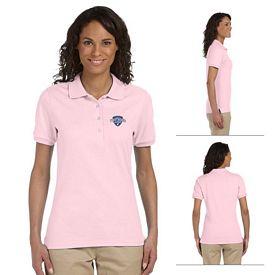 Customized Jerzees 437W Ladies' 5.6 oz 50/50 Jersey Sport Shirt with SpotShield