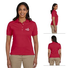 Customized Jerzees 440W Ladies' 6.5 oz Cotton Pique Polo