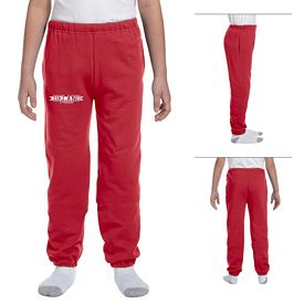 Customized Jerzees 4950BP Youth 9.5 oz Super Sweats 50/50 Sweatpants