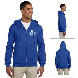 Customized Jerzees 4999 9.5 oz Super Sweats 50/50 Full-Zip Hood