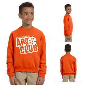 Customized Jerzees 562B Youth 8 oz NuBlend 50/50 Fleece Crew