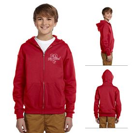 Customized Jerzees 993B Youth 8 oz NuBlend 50/50 Full-Zip Hood