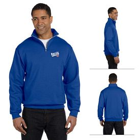 Customized Jerzees 995M 8 oz NuBlend 50/50 Quarter-Zip Cadet Collar Sweatshirt