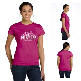 Customized LAT 3516 Ladies' Fine Jersey Longer Length T-Shirt