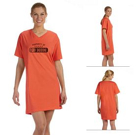Customized LAT 3575 Ladies' Combed Ringspun Jersey V-Neck Coverup