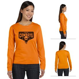 Customized LAT 3588 Ladies' Combed Ringspun Jersey Long-Sleeve T-Shirt