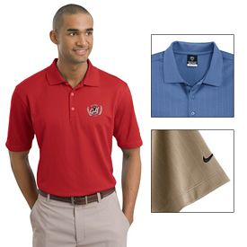 Customized Nike Golf 244620 Dri-FIT Textured Polo Shirt