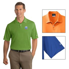 Customized Nike Golf 373749 Men's Dri-FIT Pebble Texture Polo Shirt