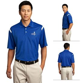 Customized Nike Golf 402394 Dri-FIT Shoulder Stripe Polo Shirt