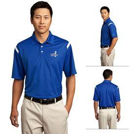 Customized Nike Golf 402394 Dri-FIT Shoulder Stripe Polo Shirt