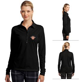 Customized Nike Golf 545322 Ladies' Long Sleeve Dri-FIT Stretch Tech Polo