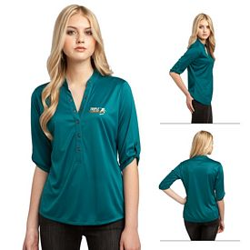 Customized OGIO LOG111 Ladies' Crush Henley Sport Polo Shirt