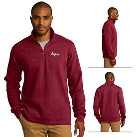 Customized Port Authority F295 Slub Fleece 1/4-Zip Pullover