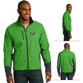 Customized Port Authority J319 Vertical Soft Shell Jacket