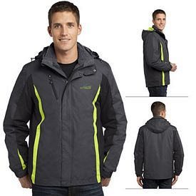 Customized Port Authority J321 Colorblock 3-in-1 Jacket