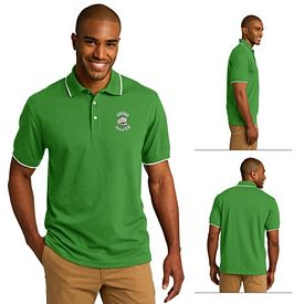 Customized Port Authority K454 Rapid Dry Tipped Polo