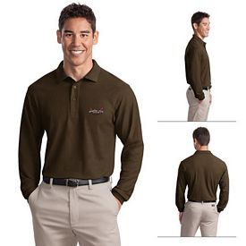 Customized Port Authority K500LS Men's 5 oz Long Sleeve Silk Touch Polo