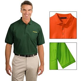 Customized Port Authority K500P Men's 5 oz Silk Touch Polo with Pocket