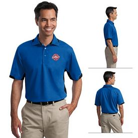 Customized Port Authority K524 Men's 5.3 oz Dry Zone Colorblock Ottoman Polo