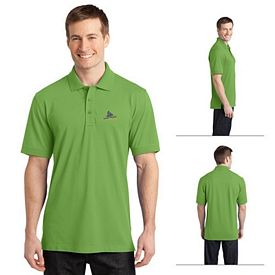Customized Port Authority K555 Stretch Pique Polo