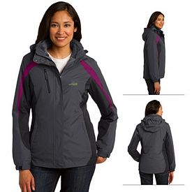 Customized Port Authority L321 Ladies Colorblock 3-in-1 Jacket