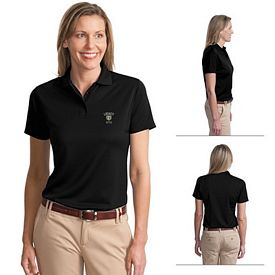 Customized Port Authority L497 Ladies Poly-Bamboo Charcoal Blend Pique Polo