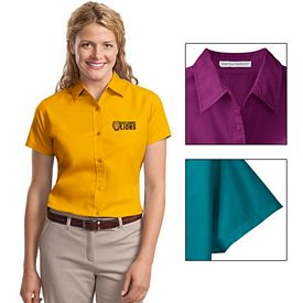 Customized Port Authority L508 Ladies Short Sleeve Easy Care  Shirt