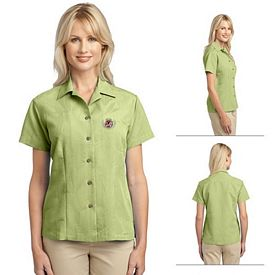 Customized Port Authority L536 Ladies Patterned Easy Care Camp Shirt