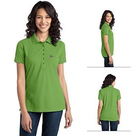 Customized Port Authority L555 Ladies Stretch Pique Polo