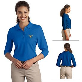 Customized Port Authority L562 Ladies Silk Touch 3/4-Sleeve Polo