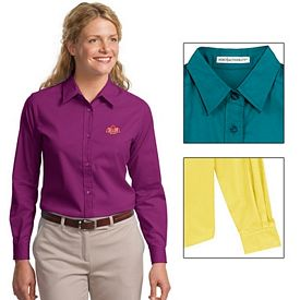 Customized Port Authority L608 Ladies Long Sleeve Easy Care Shirt