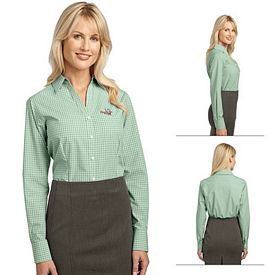 Customized Port Authority L639 Ladies Plaid Pattern Easy Care Shirt