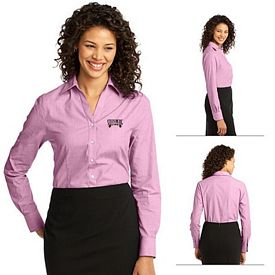 Customized Port Authority L640 Ladies Crosshatch Easy Care Shirt