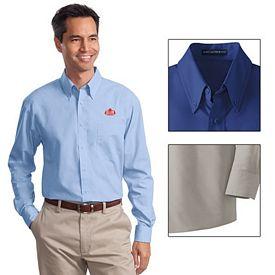 Customized Port Authority S632 Long Sleeve Value Poplin Shirt