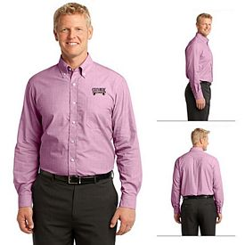 Customized Port Authority S640 Crosshatch Easy Care Shirt