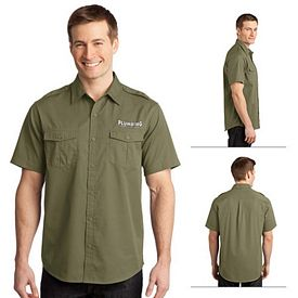 Customized Port Authority S648 Stain-Resistant Short Sleeve Twill Shirt