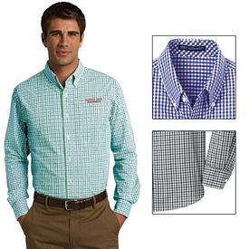 Customized Port Authority S654 Long Sleeve Gingham Easy Care Shirt