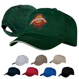Customized Port & Company CP79 Washed Twill Sandwich Bill Cap
