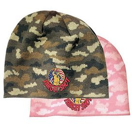 Customized Port & Company CP91C Camo Beanie Cap