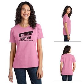 Customized Port & Company LPC150 Ladies Essential Ring Spun Cotton T-Shirt