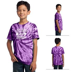 Customized Port & Company PC147Y Youth Essential Tie-Dye Tee