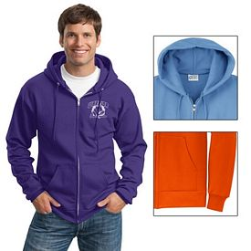 Customized Port & Company PC78ZH Classic Full-Zip Hooded Sweatshirt