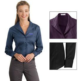 Customized Red House RH48 Ladies Herringbone Non-Iron Button-Down Shirt